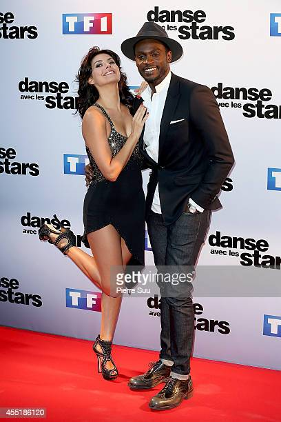Corneille and Candice Pascal attend the Photocall of 'Danse Avec Les Stars' At TF1 on September 10 2014 in Paris France
