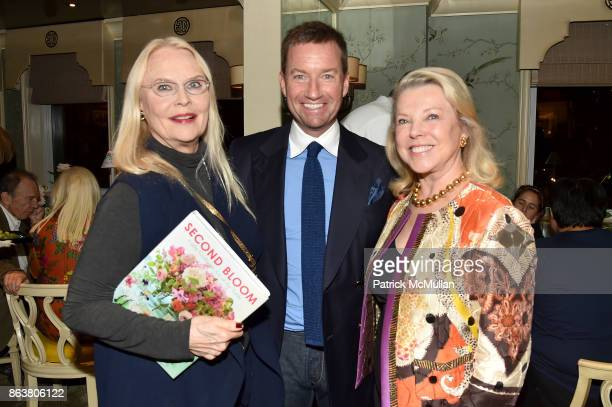Cornelia Bregman Alex Hitz and Jeanne Lawrence attend the launch of Second Bloom Cathy Graham's Art of the Table hosted by Joanna Coles and Clinton...