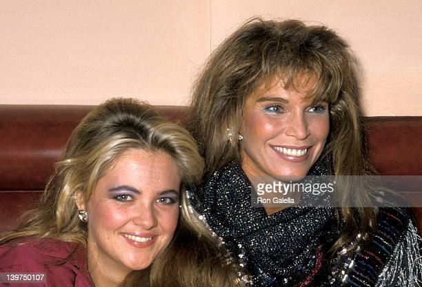 Cornelia Guest and Actress Ann Turkel attend Randy Jones' 33rd Birthday Celebration on October 18 1985 at Le Monde Restaurant in New York City New...