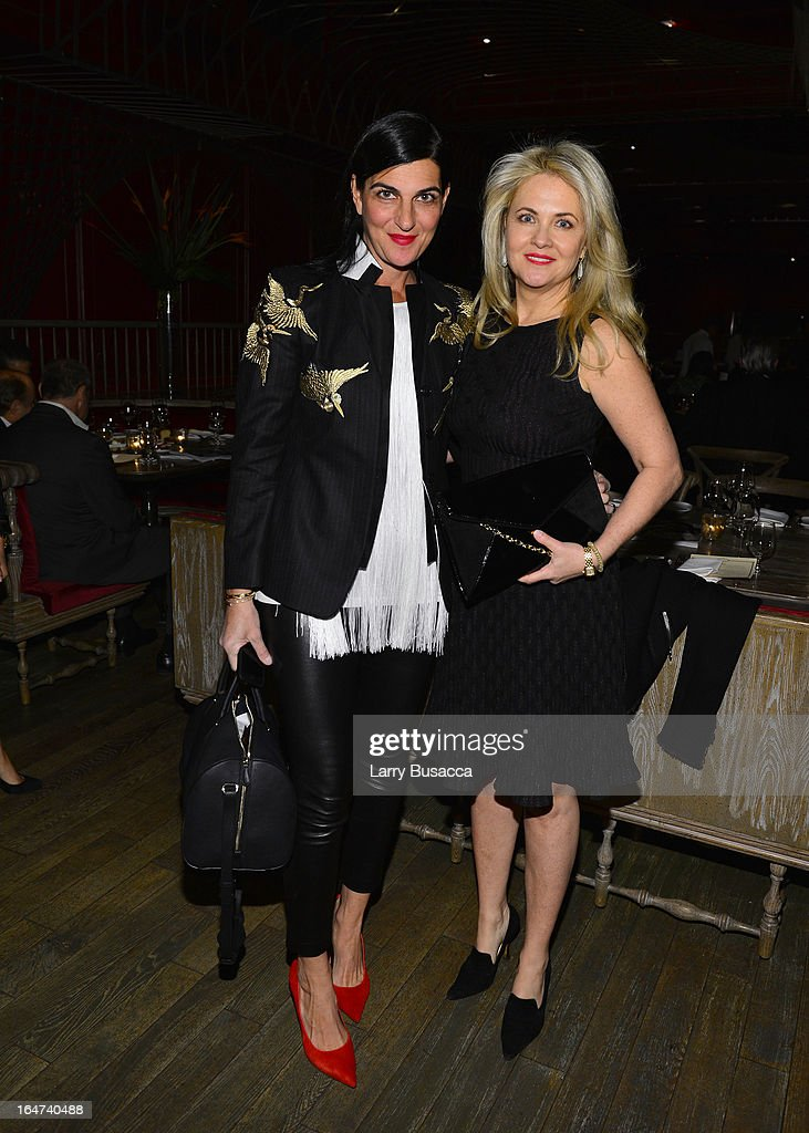 Cornelia Guest and guest attend the DuJour Magazine Spring 2013 Issue Celebration at The Darby on March 27, 2013 in New York City.