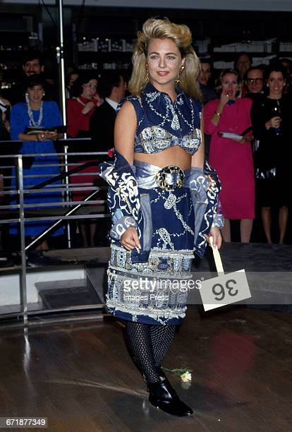 Cornelia Guest attends the Celebrity Fashion Show Benefiting AIDS Patients of St Vincent Hospital at Barney's circa 1986 in New York City