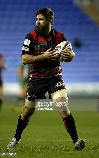 Cornell Du Preez of Edinburgh in action during the European Rugby Challenge Cup match between London Irish and Edinburgh Rugby at Madejski Stadium on...