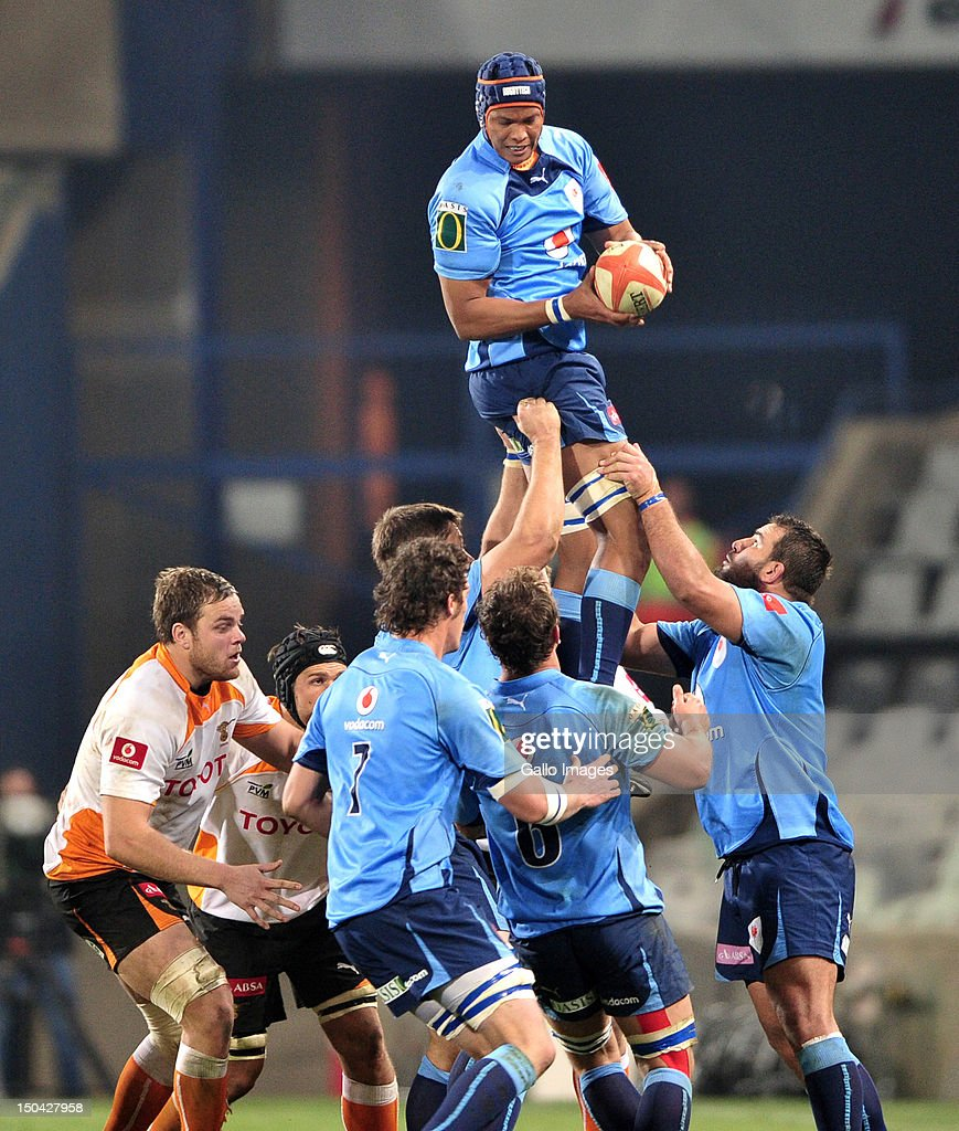 Cornell Hess of the Blue Bulls during the Absa Currie Cup match between Toyota Free State Cheetahs and Vodacom Blue Bulls at Free State Stadium on August 17, 2012 in Bloemfontein, South Africa.