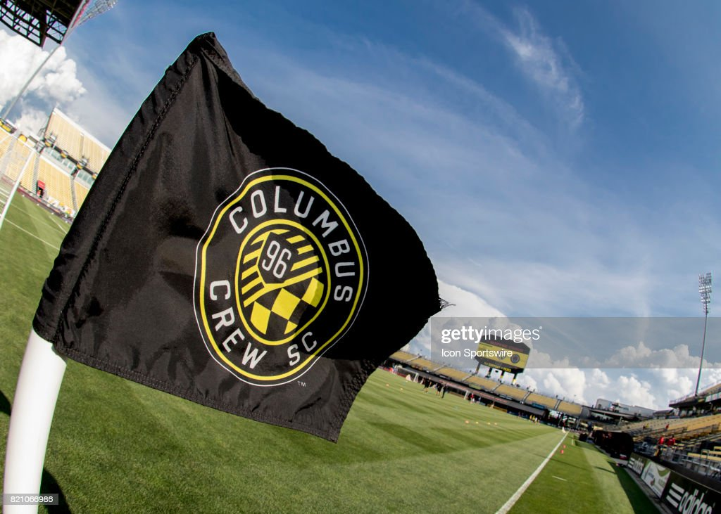 Corner Flag blowing in the wind before the game between the Philadelphia Union at Columbus Crew SC held at MAPFRE Stadium in Columbus, Ohio on July 22nd, 2017.