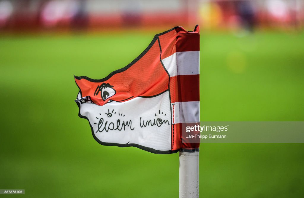 corner flag during the game between Union Berlin and FK Dinamo Brest on october 5, 2017 in Berlin, Germany.