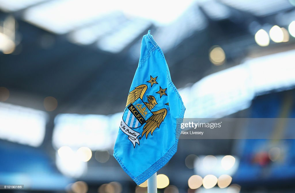 A corner flag is pictured prior to the Barclays Premier League match between Manchester City and Tottenham Hotspur at Etihad Stadium on February 14, 2016 in Manchester, England.