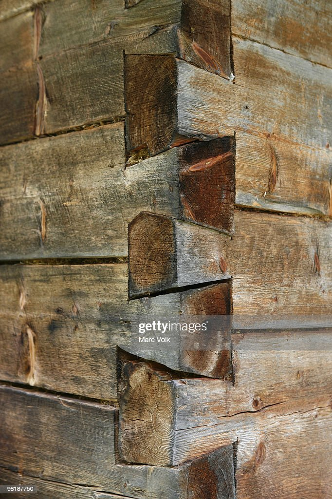 Corner of a wooden structure