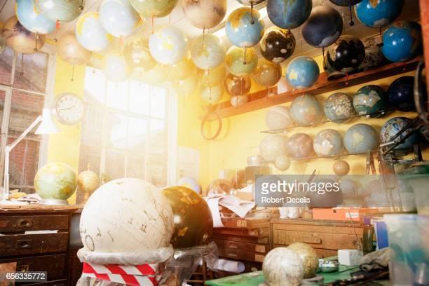 Corner of globe makers work shop