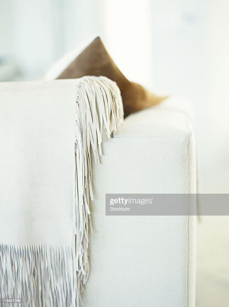 Corner of sofa : Stock Photo