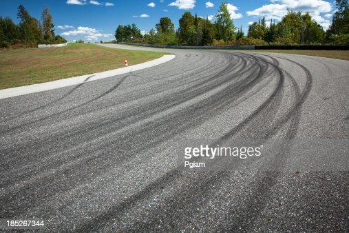 Corner on a car race track