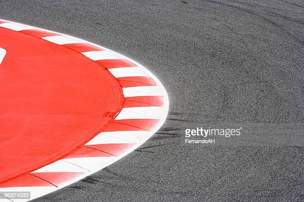 Corner on a race track