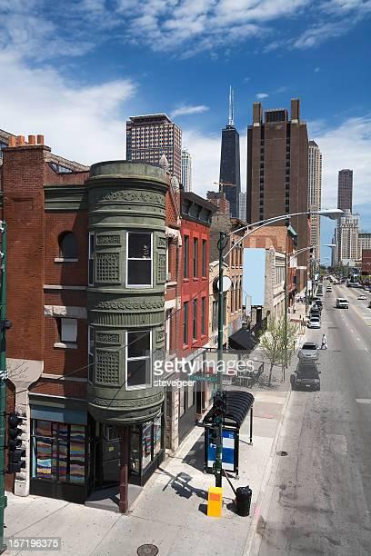 Corner Shop and Street, Chicago