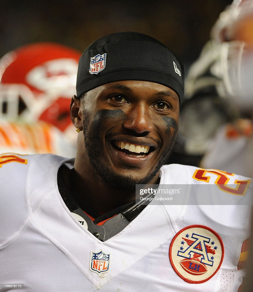 Cornerback <a gi-track='captionPersonalityLinkClicked' href=/galleries/search?phrase=Brandon+Flowers+-+American+Football+Player&family=editorial&specificpeople=7270342 ng-click='$event.stopPropagation()'>Brandon Flowers</a> #24 of the Kansas City Chiefs looks on from the field after a game against the Pittsburgh Steelers at Heinz Field on November 12, 2012 in Pittsburgh, Pennsylvania. The Steelers defeated the Chiefs 16-13.