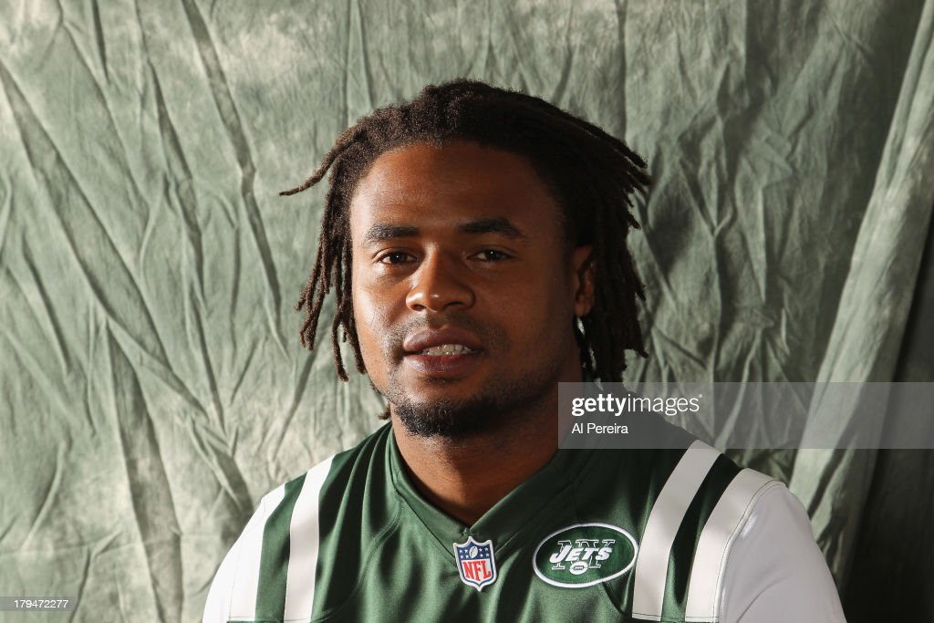 Cornerback Ellis Lankster #21 of the New York Jets poses during a portrait session on September 1, 2013 in Florham Park, New Jersey.
