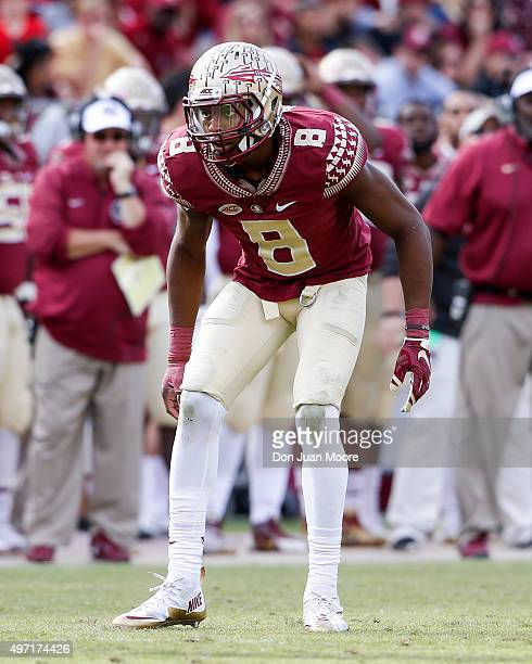 Cornerback Jalen Ramsey of the Florida State Seminoles during the game against the North Carolina State Wolfpack at Doak Campbell Stadium on Bobby...