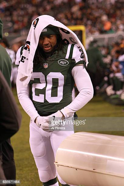 Cornerback Marcus Williams of the New York Jets follows the action against the Indianapolis Colts during their game at MetLife Stadium on December 5...