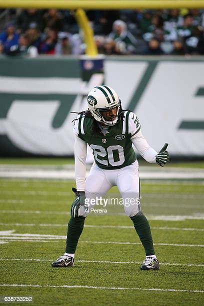 Cornerback Marcus Williams of the New York Jets in action against the Buffalo Bills at MetLife Stadium on January 1 2017 in East Rutherford New Jersey