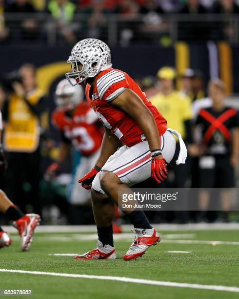 Cornerback Marshon Lattimore of the Ohio State State Buckeyes during the College Football National Championship Game against the Oregon Ducks at ATT...