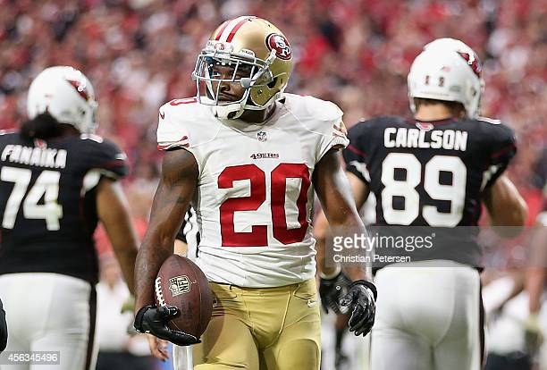 Cornerback Perrish Cox of the San Francisco 49ers during the NFL game against the Arizona Cardinals at the University of Phoenix Stadium on September...