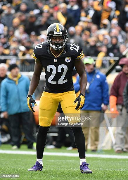 Cornerback William Gay of the Pittsburgh Steelers looks on from the field during a game against the Arizona Cardinals at Heinz Field on October 18...