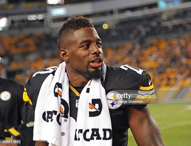 Cornerback William Gay of the Pittsburgh Steelers looks on from the sideline during a National Football League preseason game against the...