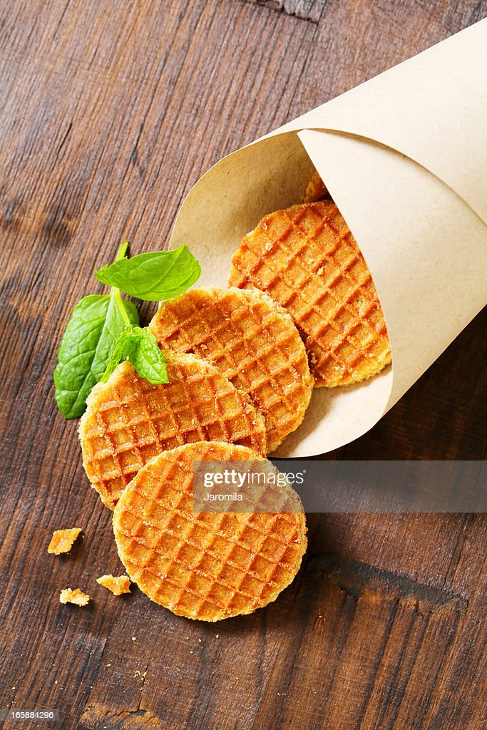 cornet of butter waffles