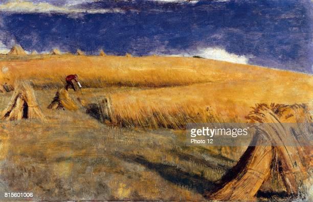 Cornfield at Ewell 1849 by William Holman Hunt British painter