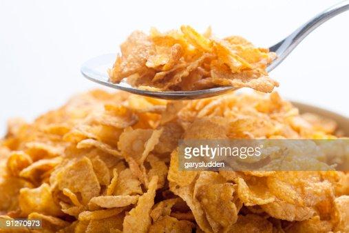 cornflakes in bowl : Stock Photo