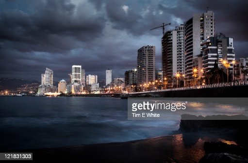 Corniche at sunset, Beirut, Lebanon
