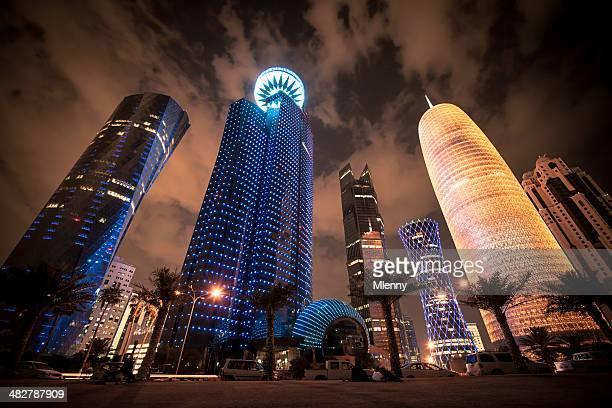 Corniche Doha, Katar, modernen städtischen Hochhäusern