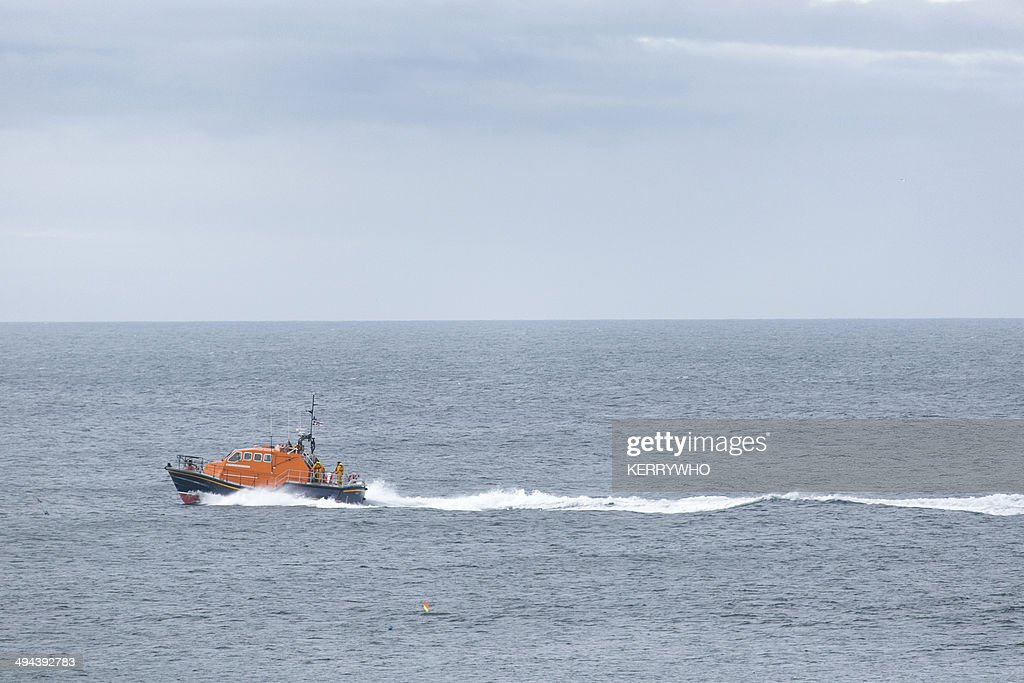 Cornish lifeboat at sea