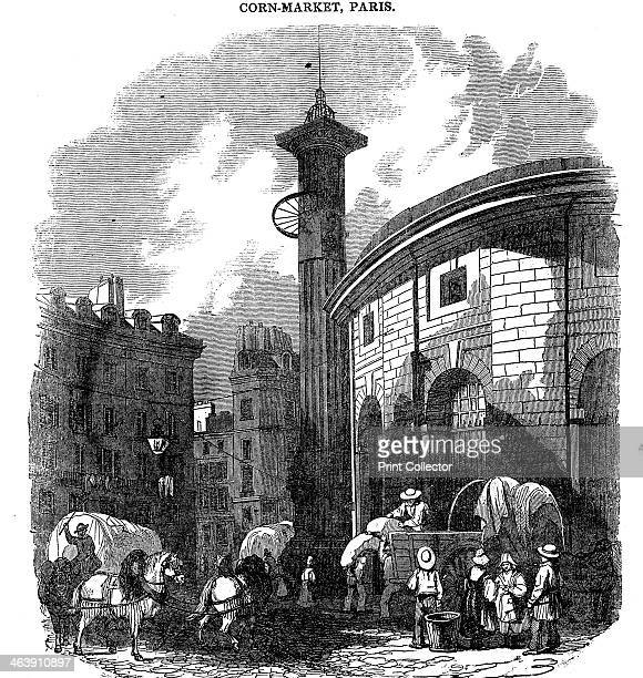 'CornMarket Paris' 1836 The Corn and Flour Hall was built in 1772 by the Paris authorities enlarged in 1782 and rebuilt after a fire in 1802