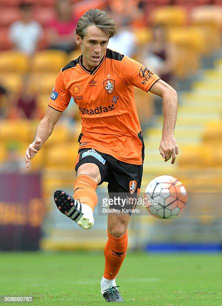 Corona of the Roar in action during the round 18 ALeague match between the Brisbane Roar and Central Coast Mariners at Suncorp Stadium on February 6...