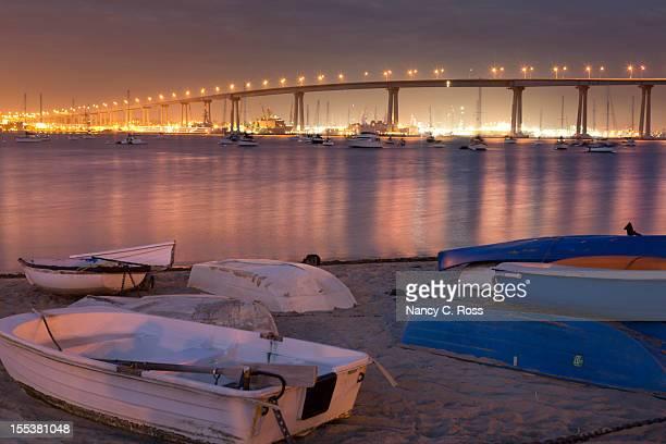 Coronado Bridge, San Diego, Night, Sunset