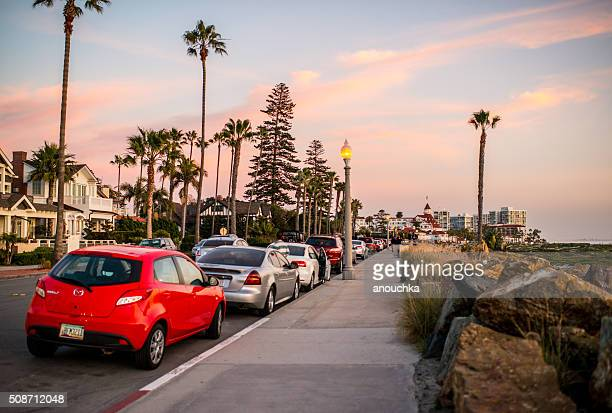 L'île de Coronado Plage Promenade, États-Unis