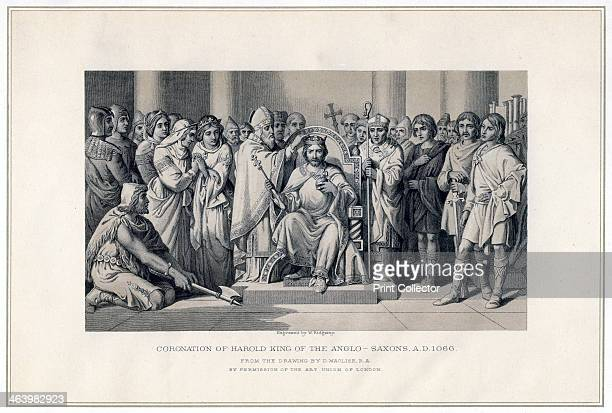 'Coronation of Harold King of the AngloSaxons 1066' Harold II last AngloSaxon king of England swore an oath before William of Normandy to support his...
