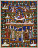 Coronation of Henry the Lion Duke of Saxony and his wife Matilda Henry Duke of Saxony from 1146 married Matilda daughter of Henry II of England in...