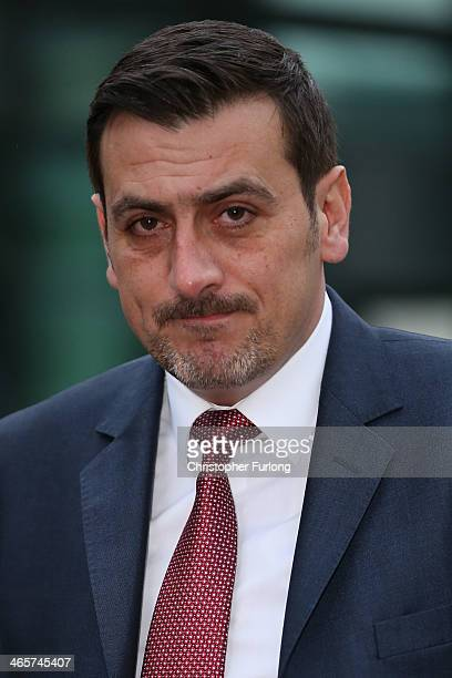 Coronation St actor Chris Gascoyne leaves Preston Crown Court after giving evidence in the trial of William Roache on January 29 2014 in Preston...
