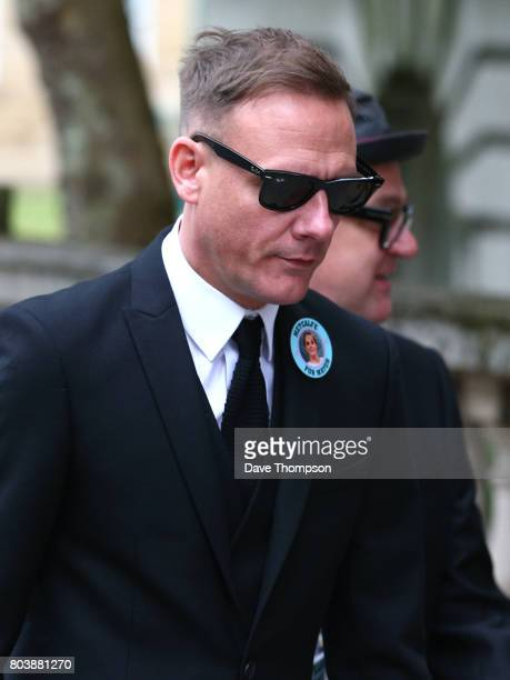 Coronation Street actor Anthony Cotton arrives for the funeral of Martyn Hett at Stockport Town Hall on June 30 2017 in Stockport England 29 year old...