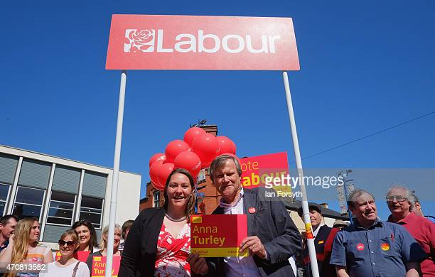 Coronation Street actor David Neilson who plays Roy Cropper in the TV soap joined Labour candidate for Redcar Anna Turley during a visit on April 23...