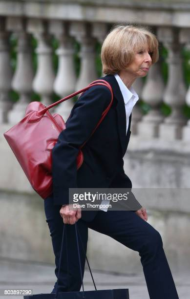 Coronation Street actor Helen Worth arrives for the funeral of Martyn Hett at Stockport Town Hall on June 30 2017 in Stockport England 29 year old...