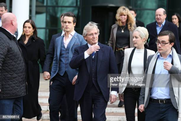 Coronation Street actor William Roache leaves Preston Crown Court with son James Roache daughter Verity and her partner Paddy as he was today found...
