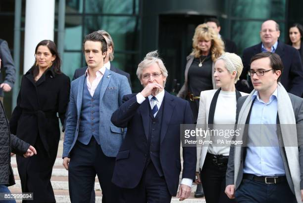 Coronation Street actor William Roache outside Preston Crown Court with Rosalind Bennett and her husband Linus Roache James Roache William Roache...