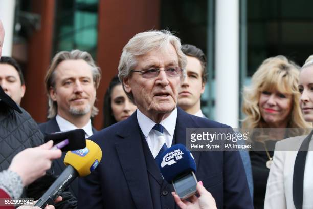 Coronation Street actor William Roache speaks to the media outside Preston Crown Court as he was today found not guilty by a jury of two counts of...