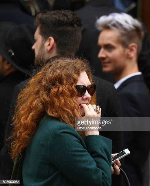 Coronation Street actorJennie McAlpine arrives for the funeral of Martyn Hett at Stockport Town Hall on June 30 2017 in Stockport England 29 year old...