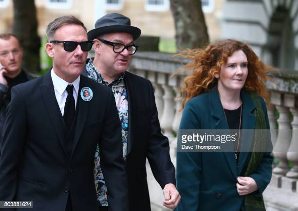 Coronation Street actors Antony Cotton and Jennie McAlpine arrive for the funeral of Martyn Hett at Stockport Town Hall on June 30 2017 in Stockport...