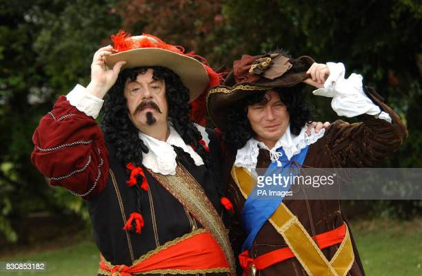 Coronation Street actors' John Savident and Steven Arnold at the Weatherfield Historical Society reenactment of the Battle of the Red Wreck Stretford...