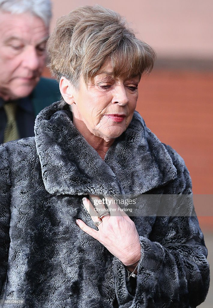 Coronation Street actress Anne Kirkbride arrives at Preston Crown Court ahead of giving evidence in the trial of William Roache on January 29, 2014 in Preston, Lancashire. Coronation Street star William Roache, who plays the character Ken Barlow on the ITV soap, is charged with two rape and four indecent assault allegations which relate to incidents between 1965 and 1971.