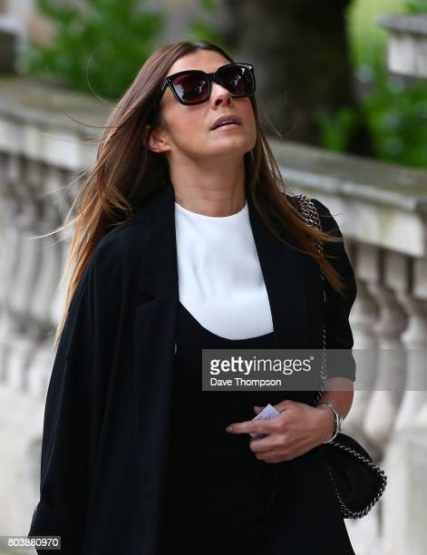Coronation Street actress Kym Marsh arrives for the funeral of Martyn Hett at Stockport Town Hall on June 30 2017 in Stockport England 29 year old...