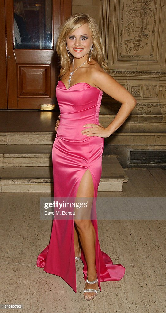 'Coronation Street' actress Tina O'Brien arrives at the '10th Anniversary National Television Awards' at the Royal Albert Hall on October 26, 2004 in London. The star-studded awards ceremony awards prizes as voted for by members of the public.